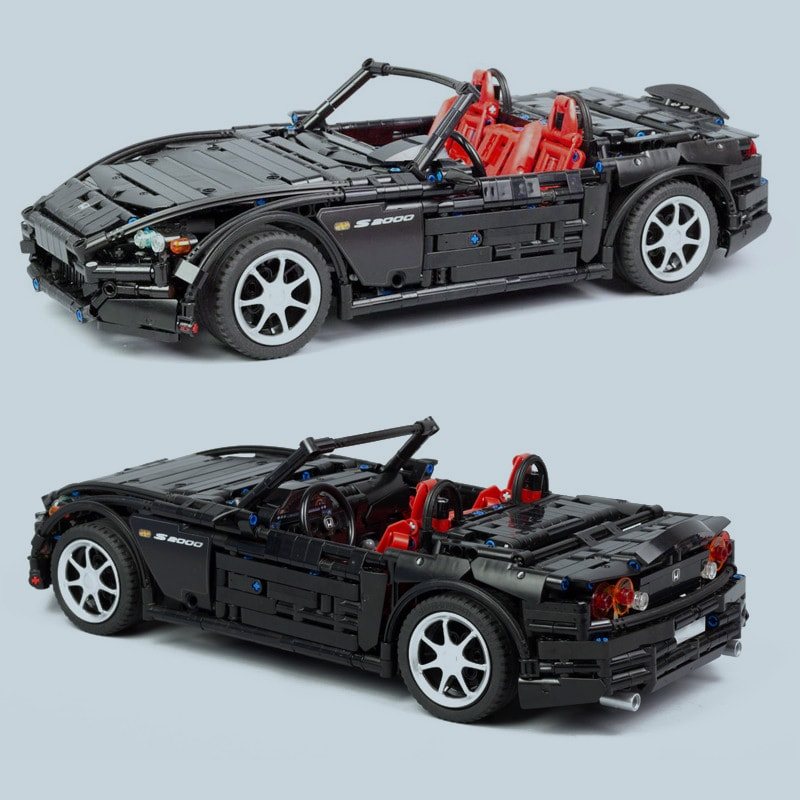 2019 NEW MOC Series Racing Car Honda S2000 AP2 MOC 24500 Compatible With Technic Racing Building 1 1 - MOC FACTORY