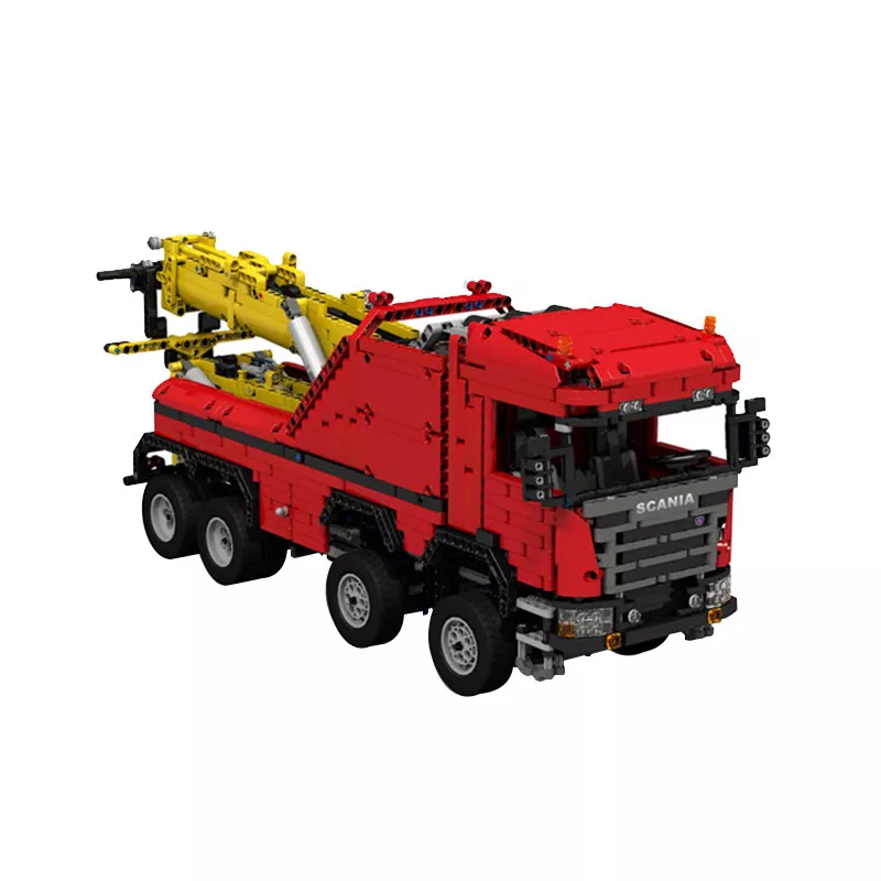 MOC 0583 Scania 8x8 Extreme Tow Truck Technic by JaapTechnic MOC FACTORY 2 - MOC FACTORY