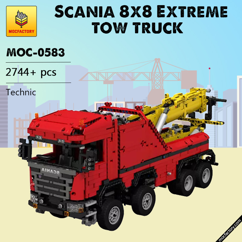 MOC 0583 Scania 8x8 Extreme Tow Truck Technic by JaapTechnic MOC FACTORY - MOC FACTORY