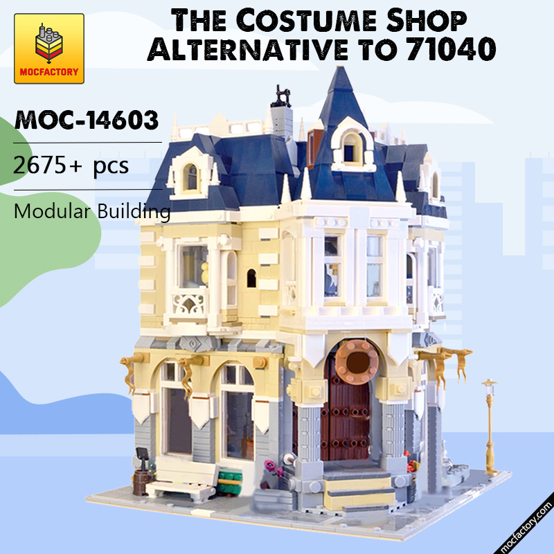 MOC 14603 The Costume Shop Alternative to 71040 Modular Building by BrickBees MOC FACTORY - MOC FACTORY