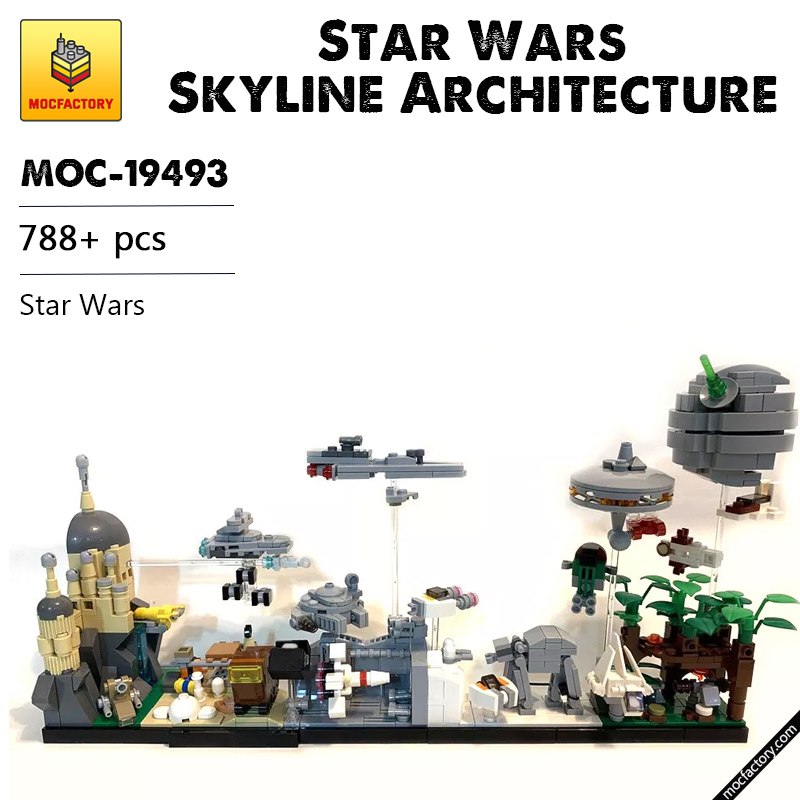 MOC 19493 Star Wars Skyline Architecture SW by MOMAtteo79 MOC FACTORY - MOC FACTORY