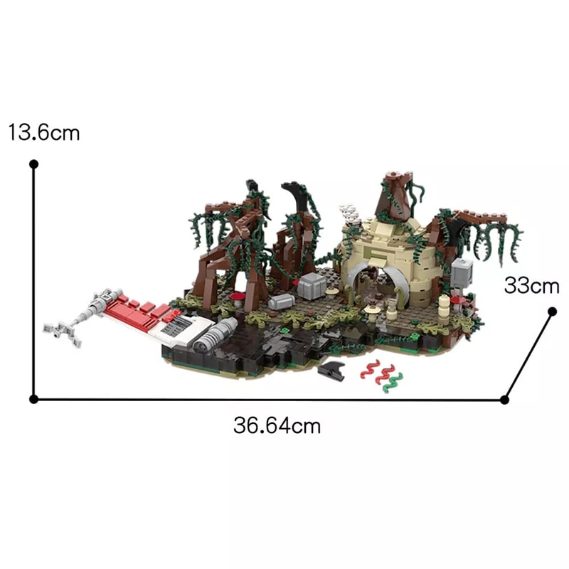 MOC 19522 Dagobah playset Star Wars by IScreamClone MOC FACTORY 2 - MOC FACTORY