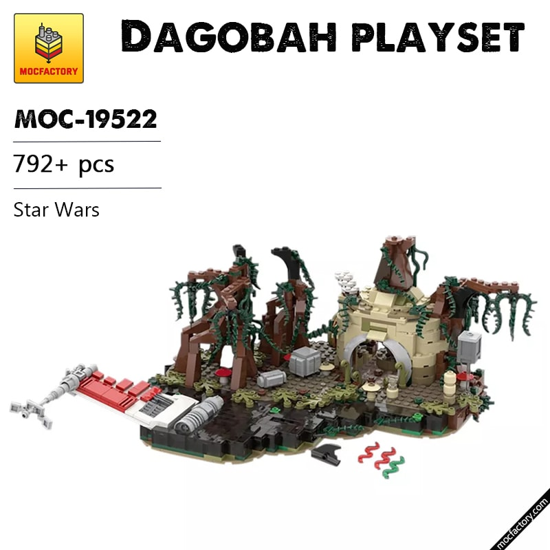 MOC 19522 Dagobah playset Star Wars by IScreamClone MOC FACTORY - MOC FACTORY