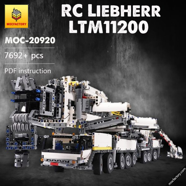MOC 20920 Super Construction Vehicle Technic RC Liebherr LTM11200 – designer Jeroen Ottens 2 - MOC FACTORY