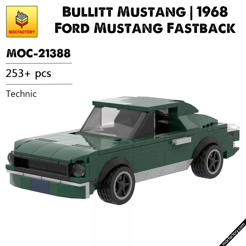 MOC 21388 Bullitt Mustang 1968 Ford Mustang Fastback Technic by mkibs MOC FACTORY - MOC FACTORY