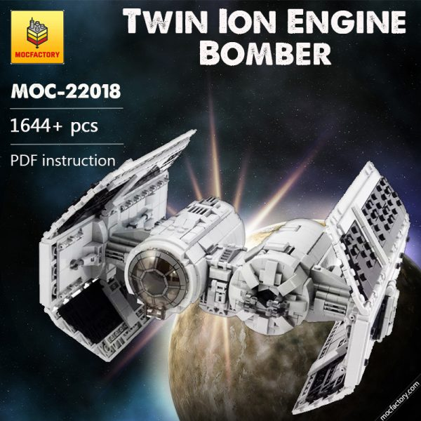 MOC 22018 Star Wars Bomber Twin Ion Engine Bomber barneius - MOC FACTORY