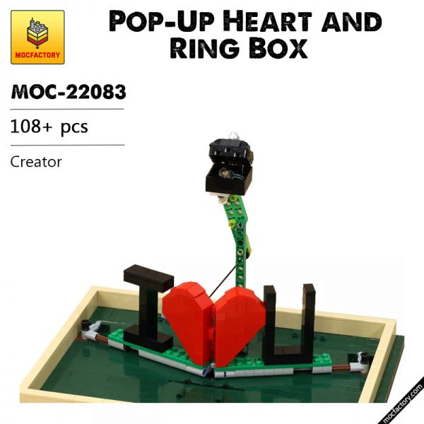 MOC 22083 Pop Up Heart and Ring Box Creator by JKBrickworks MOC FACTORY - MOC FACTORY