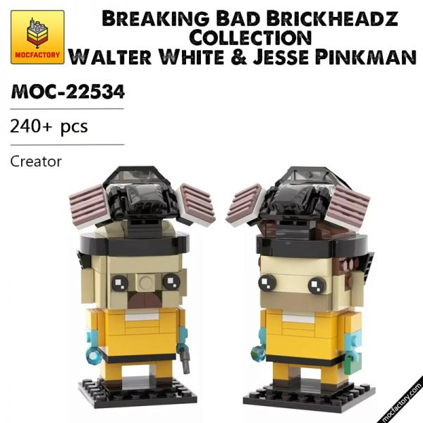 MOC 22534 Breaking Bad Brickheadz Collection Walter White Jesse Pinkman Creator by mkibs MOC FACTORY - MOC FACTORY