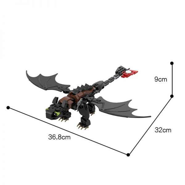 MOC 23064 Toothless How to Train Your Dragon Movie by buildbetterbricks MOC FACTORY 6 - MOC FACTORY