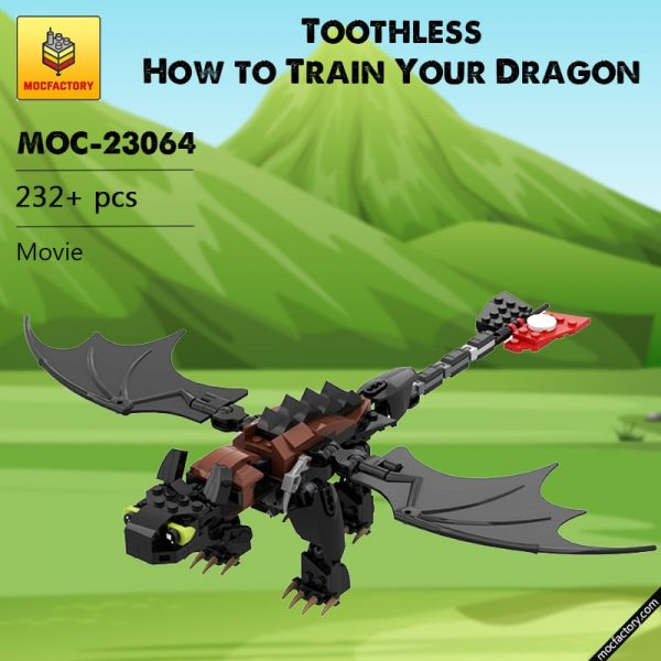 MOC 23064 Toothless How to Train Your Dragon Movie by buildbetterbricks MOC FACTORY - MOC FACTORY