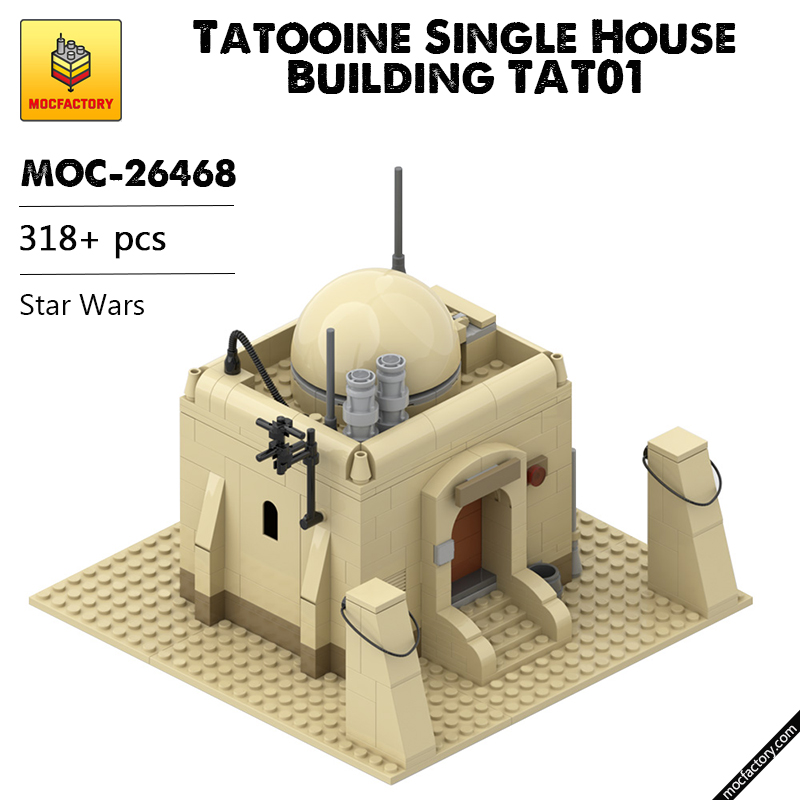 MOC 26468 Tatooine Single House Building TAT01 Star Wars by azzer86 MOC FACTORY - MOC FACTORY