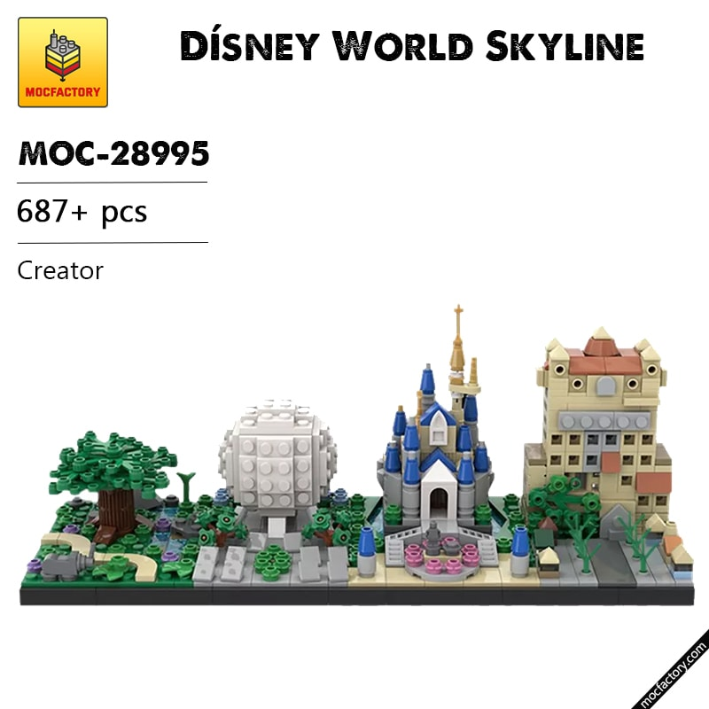 MOC 28995 Disney World Skyline Creator by benbuildslego MOC FACTORY - MOC FACTORY