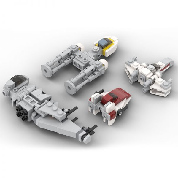 MOC 32286 Micro Rebel Starfighters Original Trilogy Star Wars by ron mcphatty MOC FACTORY 2 - MOC FACTORY