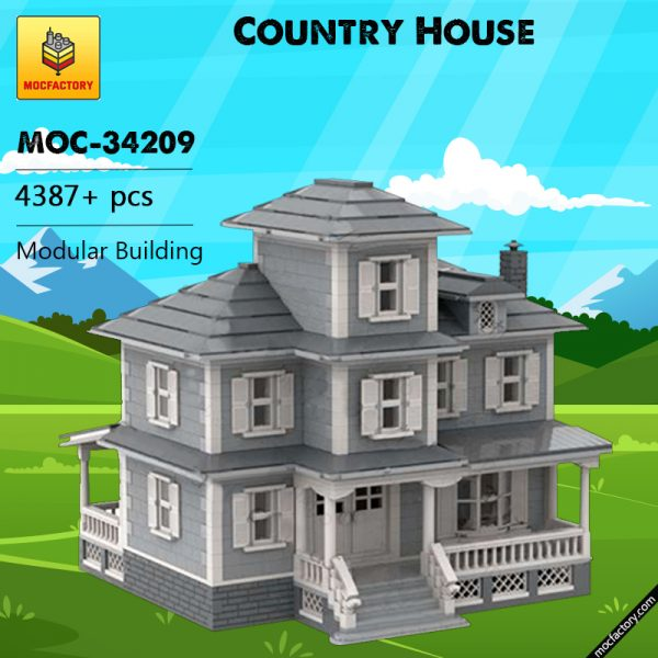 MOC 34209 Country House Modular Building by jepaz MOC FACTORY - MOC FACTORY