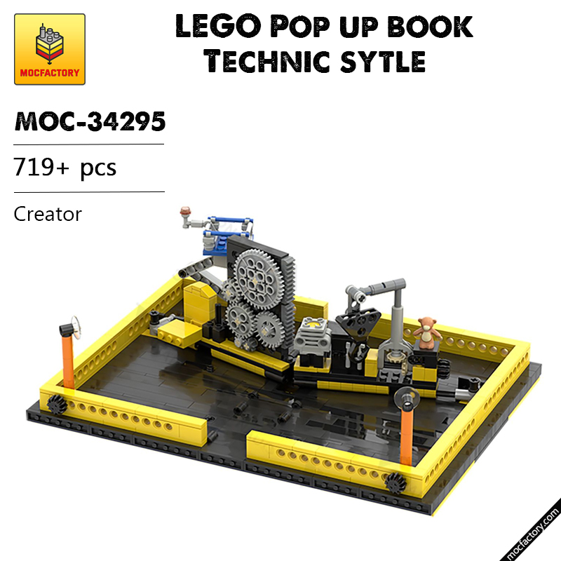 MOC 34295 LEGO Pop up book Technic sytle Creator by OnTheEdge MOC FACTORY - MOC FACTORY
