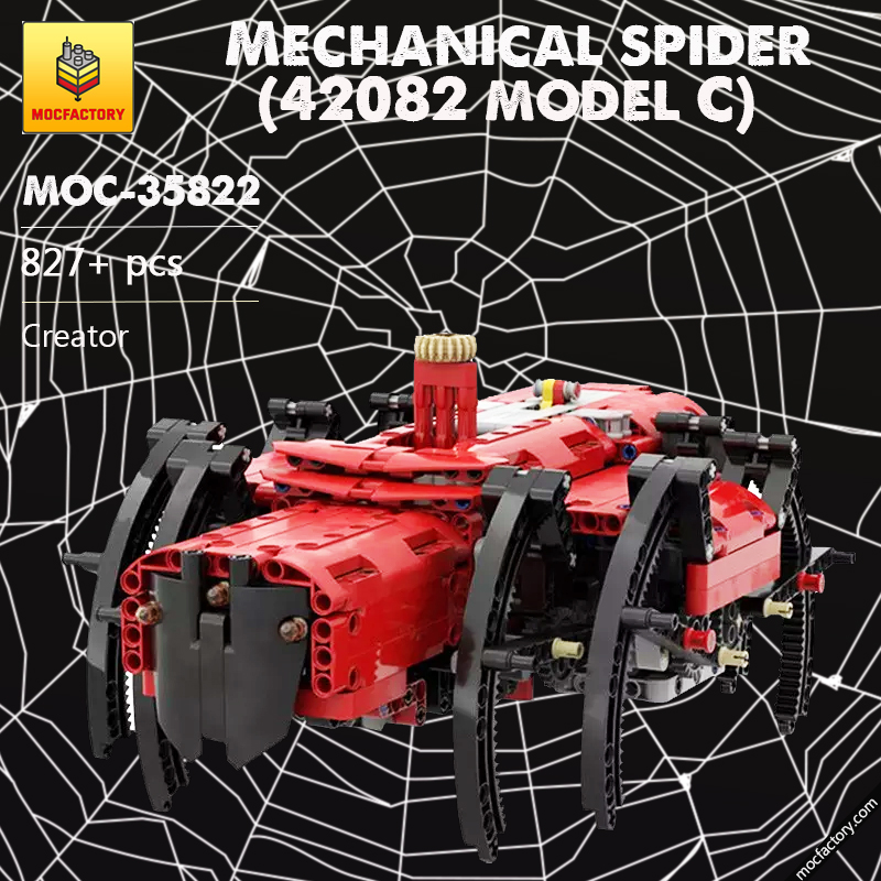 MOC 35822 Mechanical spider 42082 model C with PF Creator by Kartmen MOC FACTORY - MOC FACTORY