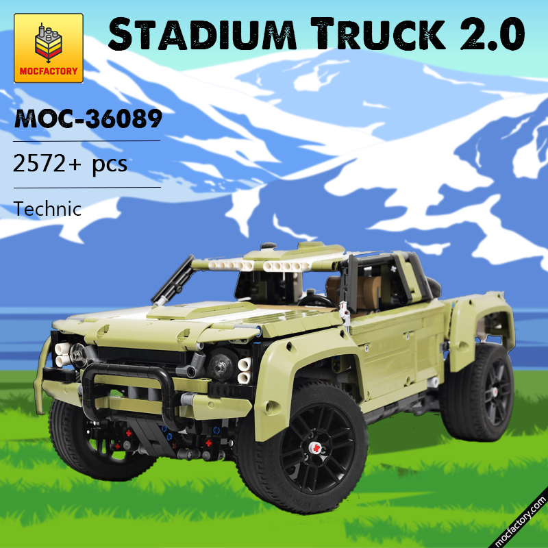 MOC 36089 Stadium Truck 2.0 Technic by grohl MOC FACTORY - MOC FACTORY