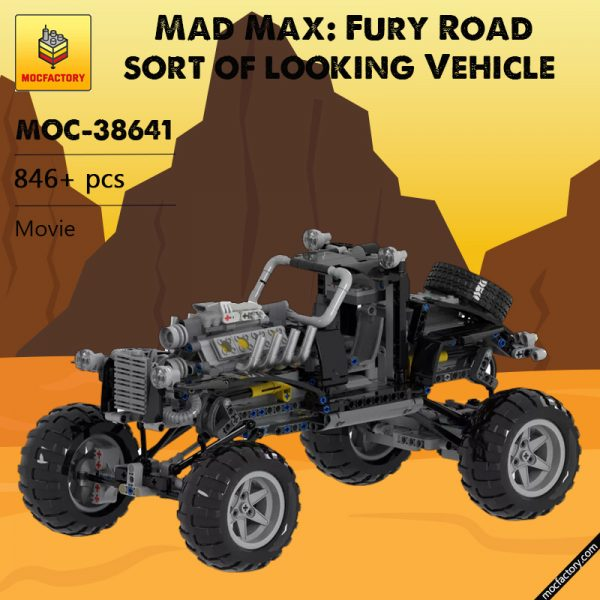 MOC 38641 Mad Max Fury Road sort of looking Vehicle Movie by Joebot360 MOC FACTORY - MOC FACTORY