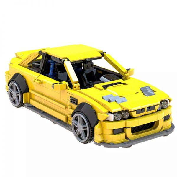 MOC 45363 BMW E46 M3 GTR Super Car by QuattroBricks MOC FACTORY 2 - MOC FACTORY