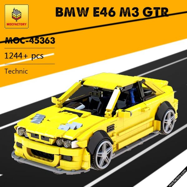 MOC 45363 BMW E46 M3 GTR Super Car by QuattroBricks MOC FACTORY - MOC FACTORY