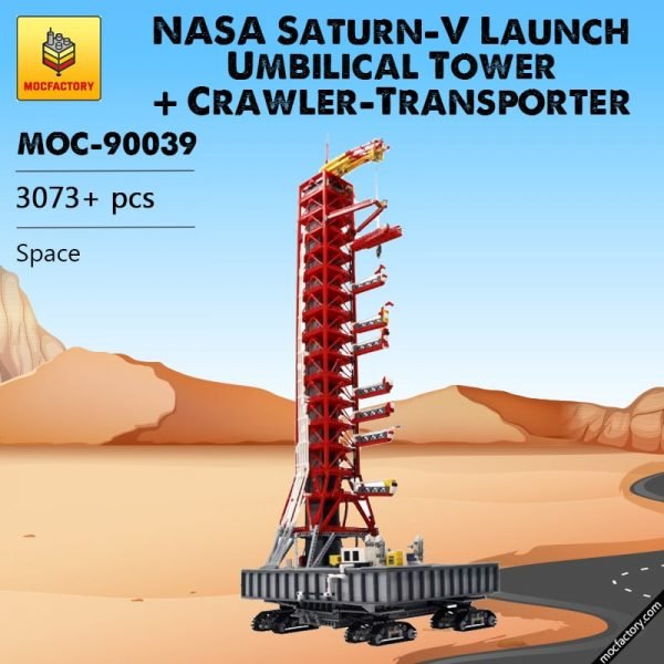 MOC 90039 NASA Saturn V Launch Umbilical Tower Crawler Transporter MOC FACTORY - MOC FACTORY