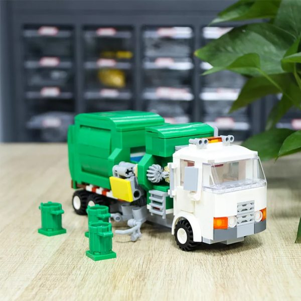 MOC 90060 green Automated Garbage Truck Technic MOC FACTORY 2 - MOC FACTORY