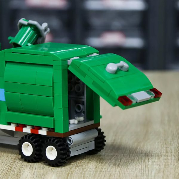 MOC 90060 green Automated Garbage Truck Technic MOC FACTORY 7 - MOC FACTORY