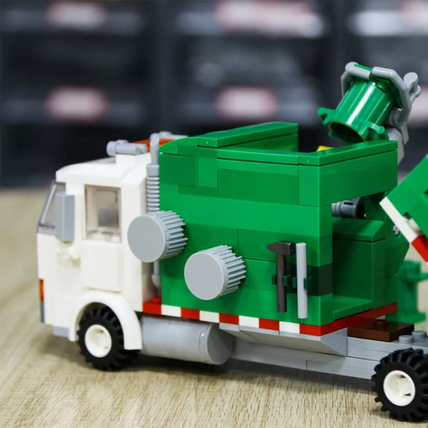 MOC 90060 green Automated Garbage Truck Technic MOC FACTORY 8 - MOC FACTORY