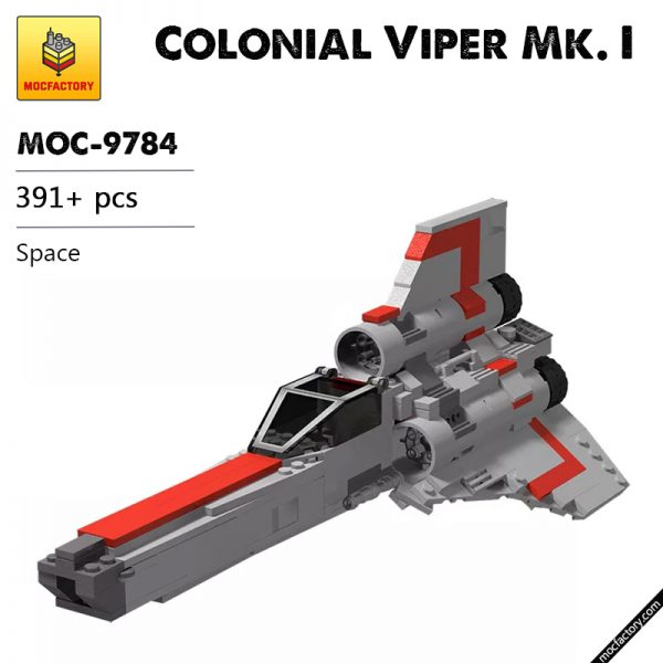 MOC 9784 Colonial Viper Mk. I Space by BricksWithWings MOC FACTORY - MOC FACTORY