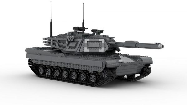 New technology building block moc29526 military ultimate Abrams with bridge layer AVLB remote control tank assembly 1 - MOC FACTORY