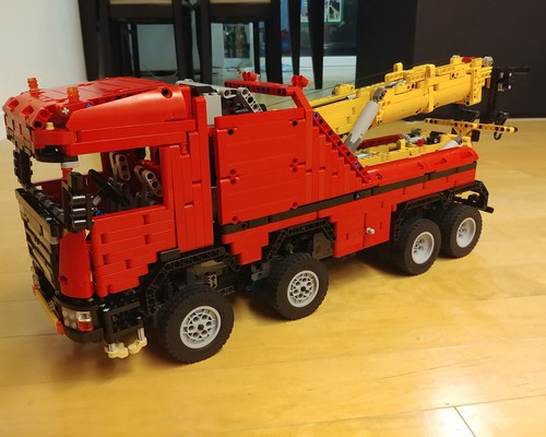 moc 0583 scania 8x8 extreme tow truck 2020 1 - MOC FACTORY