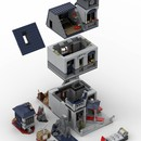 moc 22749 70617 modular secret hideout block set moc factory 3 - MOC FACTORY