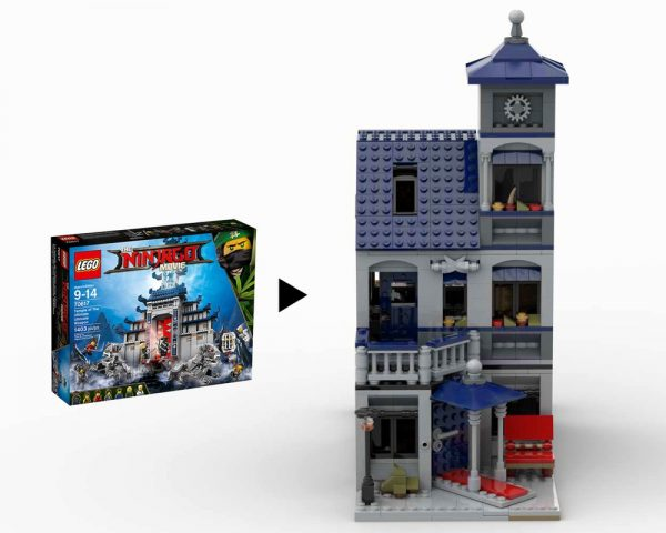 moc 22749 70617 modular secret hideout block set moc factory - MOC FACTORY