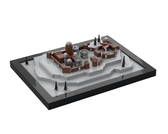 moc 23451 game of thrones winterfell block set moc factory - MOC FACTORY