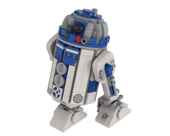 moc 24364 roundified head mod for mid size r2 d2 by dansto block set moc factory - MOC FACTORY