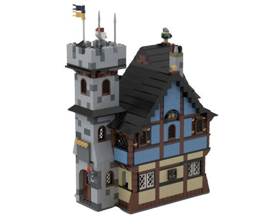 moc 25711 10193 medieval house with keep block set moc factory - MOC FACTORY