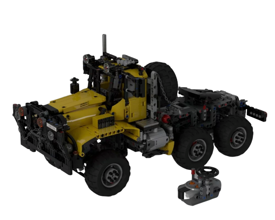 moc 28166 all terrain offroad truck type1 remote controlled block set moc factory - MOC FACTORY