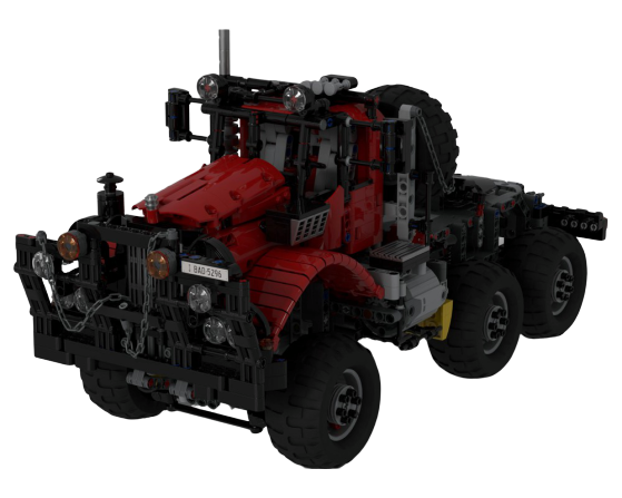 moc 28325 all terrain offroad truck type2 red remote controlled block set moc factory - MOC FACTORY