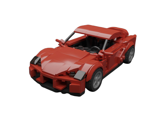 moc 31363 inspired by toyota supra mkv a90 red stock block set moc factory 1 - MOC FACTORY