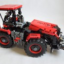 moc 32043 claas xerion red and black block set moc factory 3 - MOC FACTORY