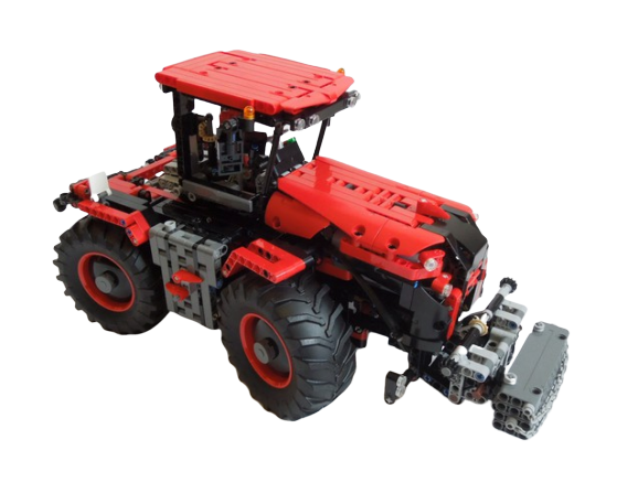 moc 32043 claas xerion red and black block set moc factory - MOC FACTORY