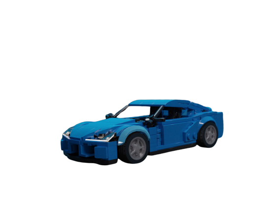 moc 32869 inspired by toyota supra mkv a90 midnight blue block set moc factory - MOC FACTORY