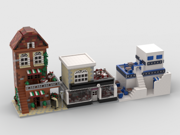moc 33137 french caffee and cake shop block set moc factory 2 - MOC FACTORY