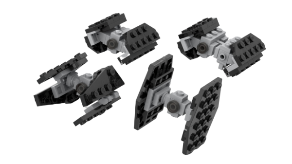moc 35570 micro imperial tie fighters block set moc factory - MOC FACTORY