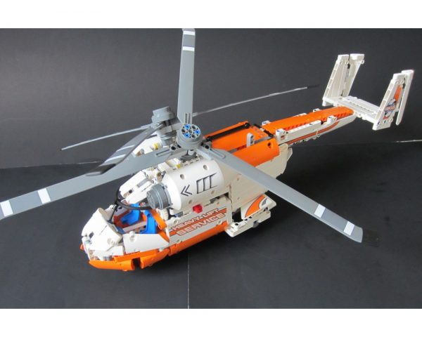 moc 7342 42052 c model twin spin helicopter block set moc factory - MOC FACTORY