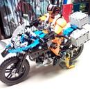 moc 7829 display stand for 42063 bmw r 1200 gs block set moc factory 10 - MOC FACTORY