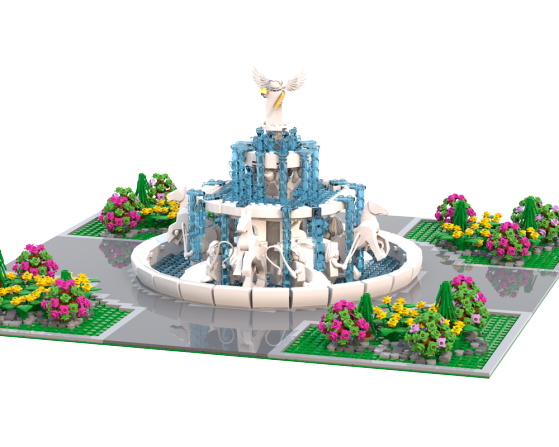 moc 9371 fountain of the angel block set moc factory - MOC FACTORY