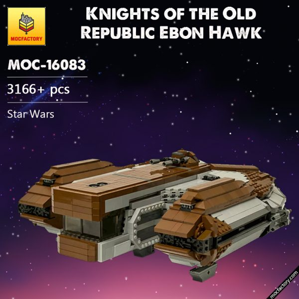 MOC 16083 SW Knights of the Old Republic Ebon Hawk Star Wars by CRCT Productions MOC FACTORY - MOC FACTORY