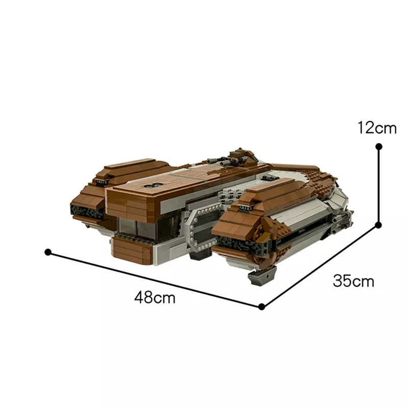 MOC 16083 SW Knights of the Old Republic Ebon Hawk Star Wars by CRCT Productions MOC FACTORY4 - MOC FACTORY