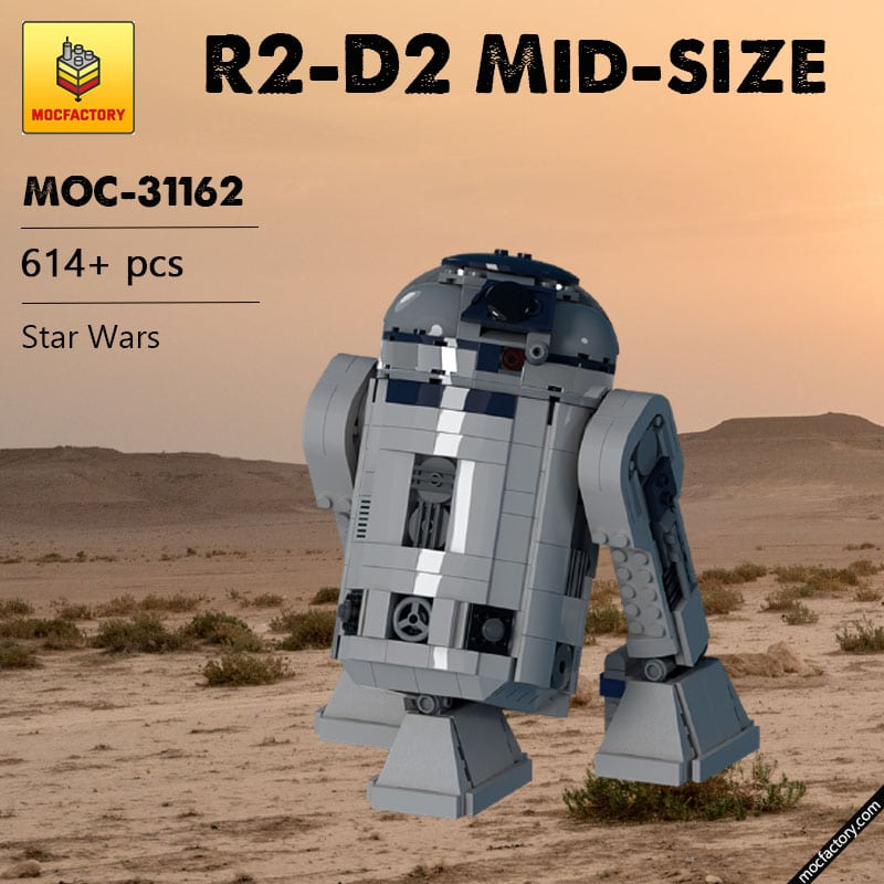 MOC 31162 R2 D2 Mid size Star Wars by wheelsspinnin MOC FACTORY 1 - MOC FACTORY
